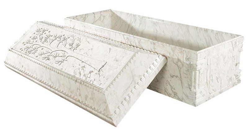Healing Tree White Marble Burial Vault
