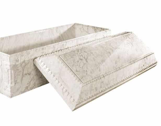 Aegean White Marble Burial Vault