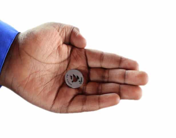 Hand Holding Healing Medallion