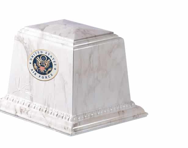 Millennium White Cremation Urn Vault