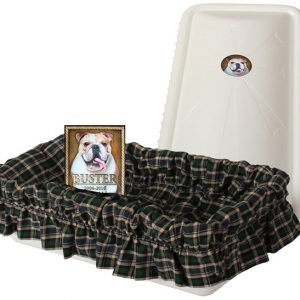 Tranquility Pet casket vault with bronze plaque