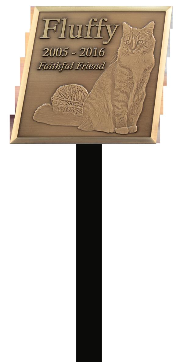 Oxide Bronze Pet Garden Stake