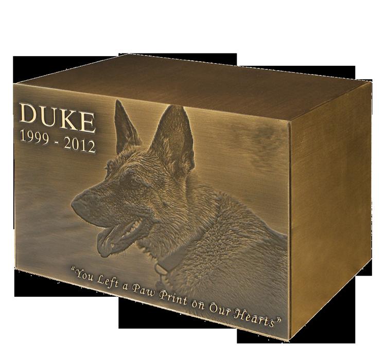 Oxide Bronze Pet Urn