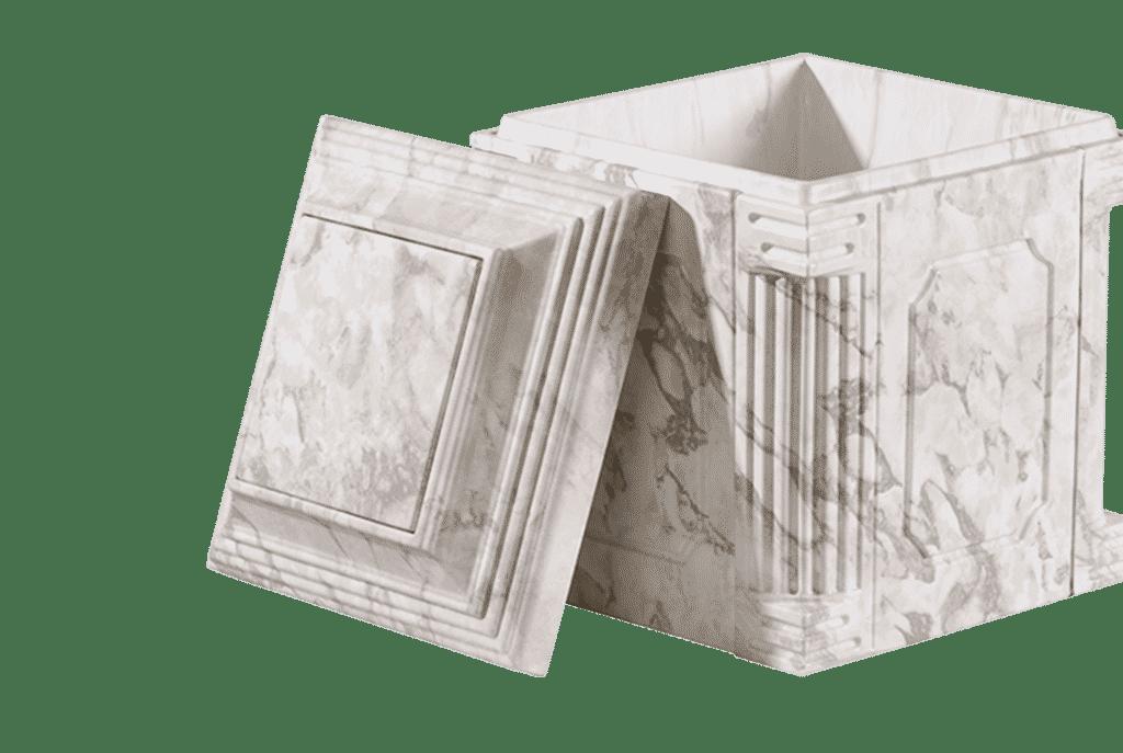 White Marble Aegean cremation urn vault