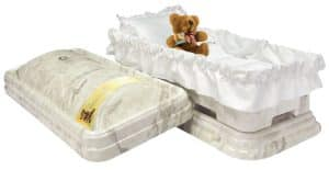 Toddler Serenity White Marble with Remembrance Bear Ceremony