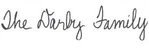 The Darby Family Signature