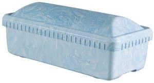 Infant Preemie Blue Swirl Casket Vault