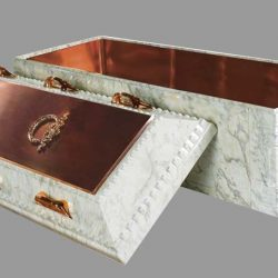 White Marble Copper Burial Vault