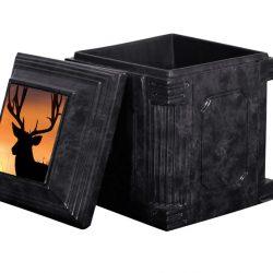 Aegean Black Cremation Urn Vault