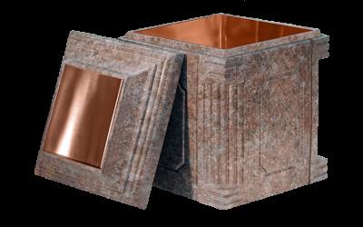 Elite Rose Granite Copper Cremation Urn Vault