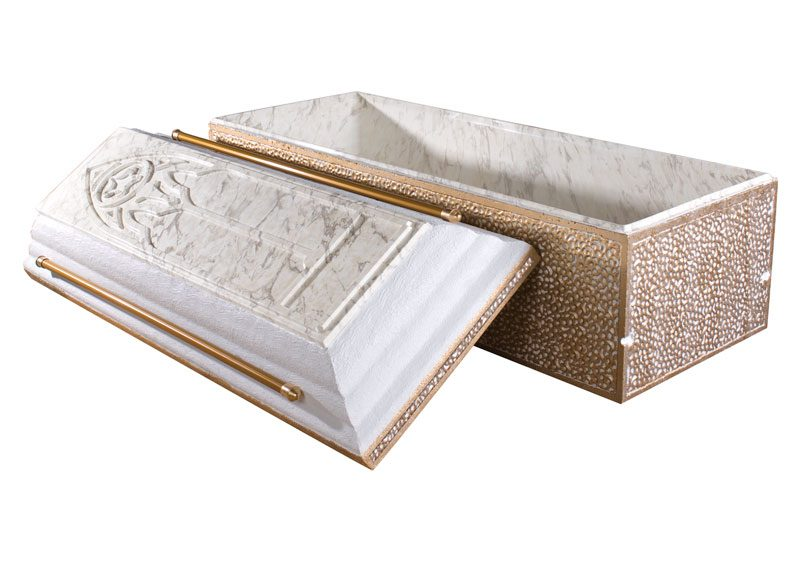 Trilogy White Marble Burial Vault