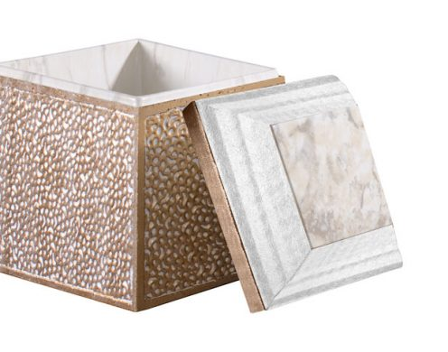 Trilogy White Marble Cremation Urn Vault