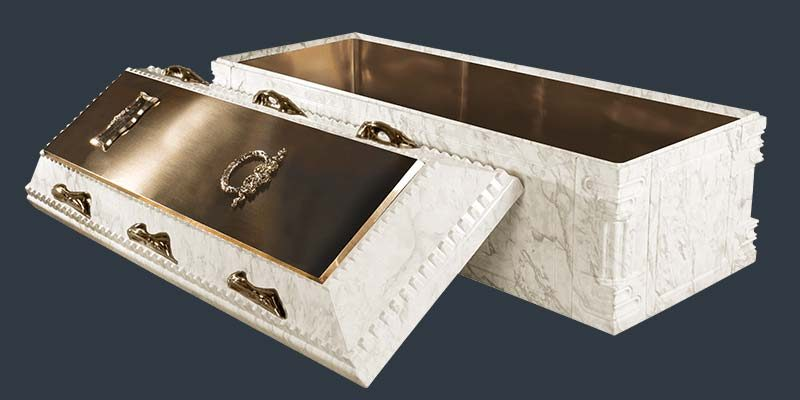 White Marble Elite Burial Vault